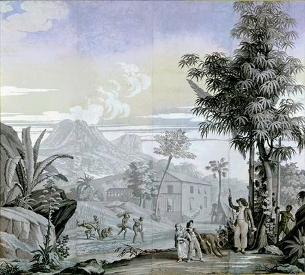 Leaving for a Walk, illustration from 'Paul et Virginie' by Henri Bernadin de Saint-Pierre
