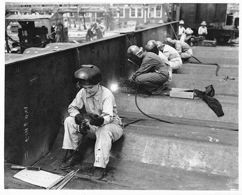 Women Working as Welders | Ken Burns: The War