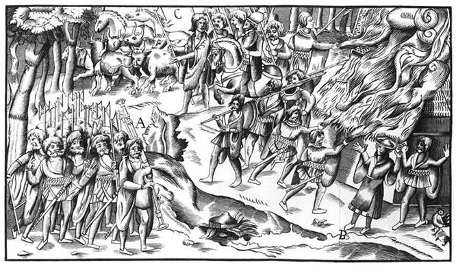 Irish Cattle Raid on an English Plantation, 1581