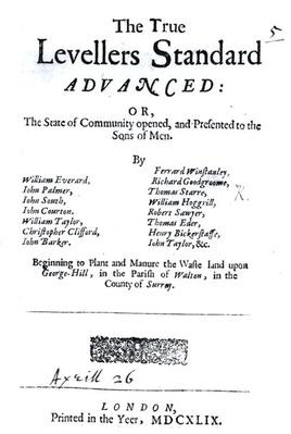 Title page of The True Levellers' Standard, published 26th April 1649