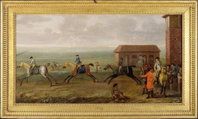 Lord Portmore Watching Racehorses on Exercise on Newmarket Heath, c.1735