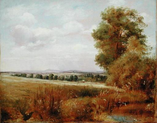 Landscape at Hampstead with Harrow in the Distance, c.1849-55