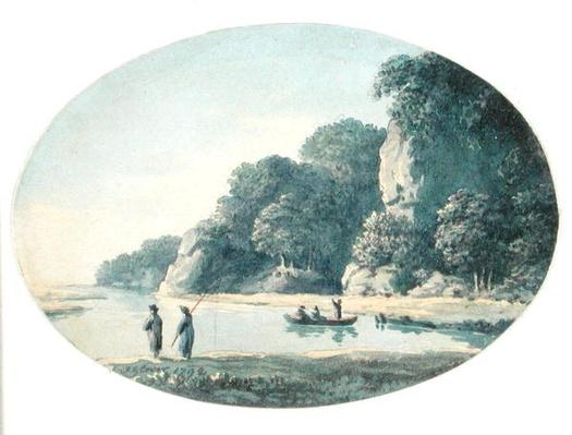 River with Fisherman, 1792