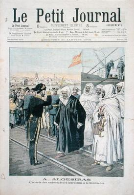 The Arrival of the Moroccan Ambassadors at the International Conference at Algeciras in 1906, cover of 'Le Petit Journal', 21st January 1906
