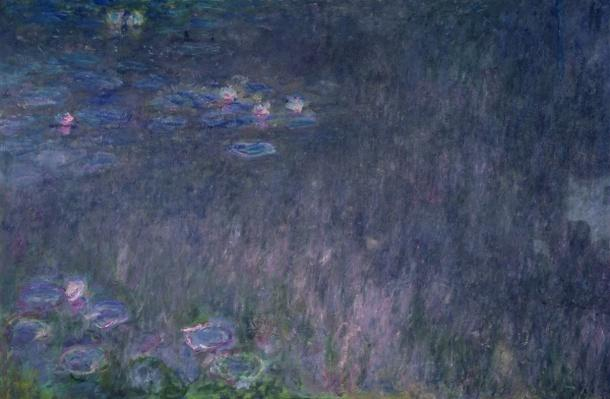 Waterlilies: Reflections of Trees, detail from the left hand side, 1915-26