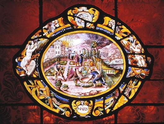 Window depicting March, from Montigny