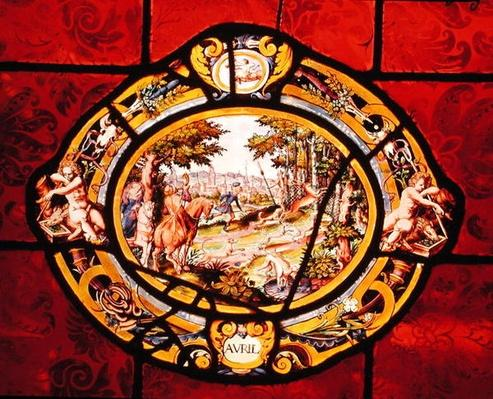 Window depicting April, from Montigny