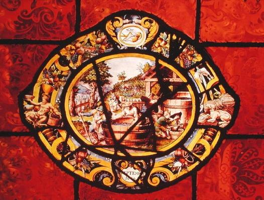Window depicting September, from Montigny