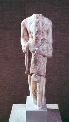 Amun protecting Amenhotep III