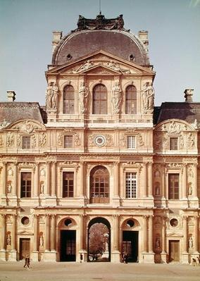 The Pavillon de l'Horloge of the Louvre, built in 1624
