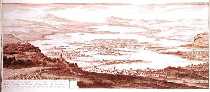 The Town of Mexico, from 'Voyages aux Regions Equinoxales du Nouveau Continent' by Alexander von Humboldt