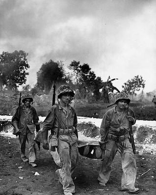 Marines Remove a Fallen Comrade   Ken Burns: The War