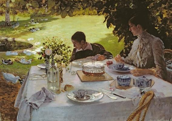 Breakfast in the Garden, 1883