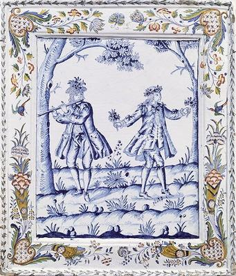 Plaque depicting a scene from 'The Magic Flute'
