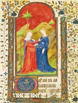 The Visitation, from 'Les Heures d'Isabelle la Catholique'