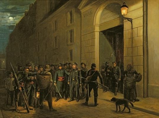 Arrest of the Generals Lecomte and Clement Thomas during the Paris Commune