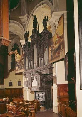 View of the organ in Franziskanerkirche, Vienna, 1643