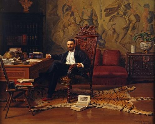 Louis Signorino seated in his study