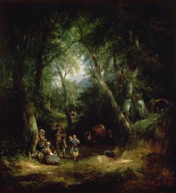 Gypsy Encampment in the New Forest, 19th century