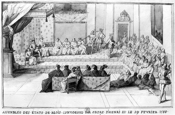 The Assembly of the Blois Estates convened on the 29th February 1588 by Henri III