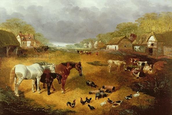 A farmyard in Spring, 19th century