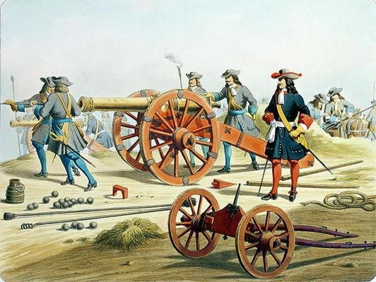 The Regiment of the King's Fusilliers in 1871, from 'L'Artillerie Francaise' by Moltzheim