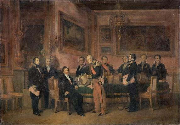 Council of Ministers at the Tuileries Signing the Law of Regency, 15th August 1842, 1844