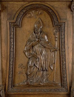 Relief depicting St. Medard