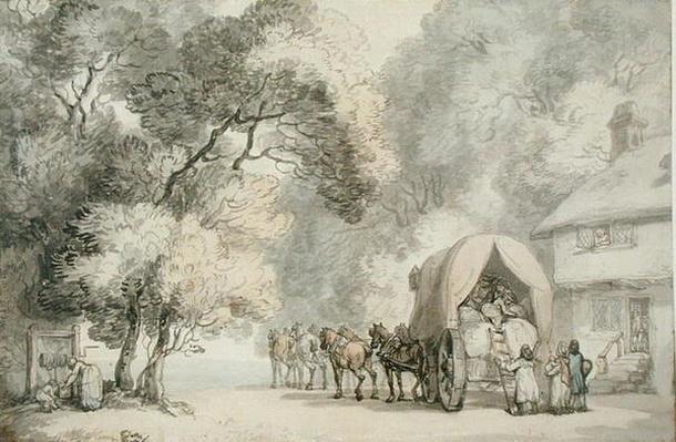 A Carrier's Cart Outside an Inn, c.1785-90
