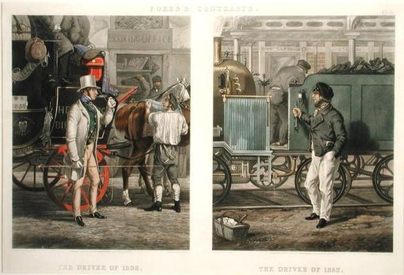 Fore's Contrasts: The Driver of 1832, The Driver of 1852, engraved by John Harris