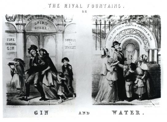 The Rival Fountains or Gin and Water