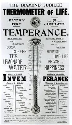 The Diamond Jubilee Thermometer of Life, printed by M. M. Whelan and Company, 1897