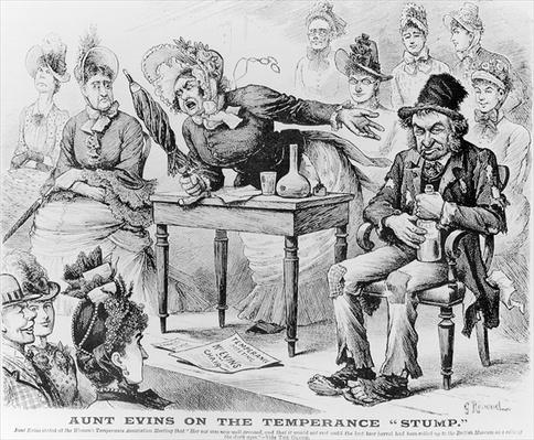 Aunt Evins on the Temperance 'Stump'