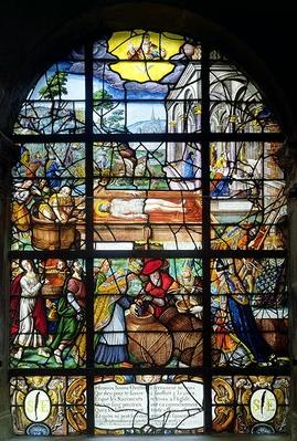 Window depicting the Mystic Wine-Press, 1612-22