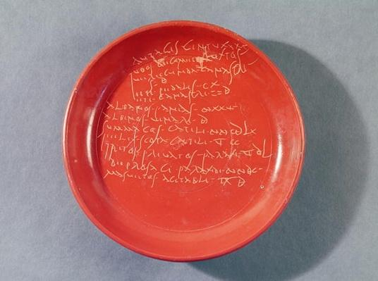 Plate with Celtic text, 1st-2nd century