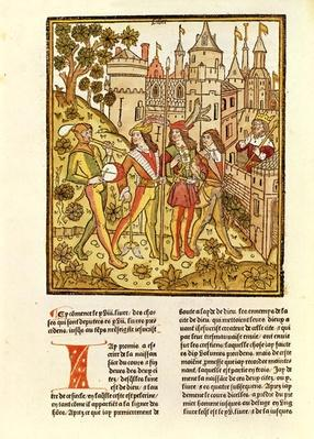 The City of God and the City of This Century, from 'La Cite de Dieu', 1486-87