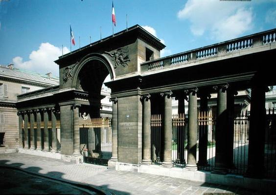 View of the entrance of the Hotel de Salm, Palais de la Legion d'Honneur, built 1782-87