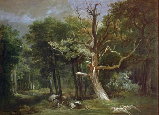 Wolf Hunt in the Forest of Saint-Germain, 1748