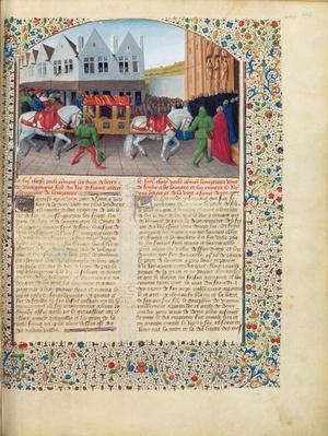 Ms Fr 6465 fol.442 Arrival of Emperor Charles IV