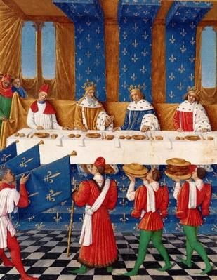 Ms 6465 fol.444v Banquet given by Charles V