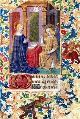 Ms Latin 13305 fol.15 The Annunciation, from 'Heures a l'Usage de Rome', c.1465