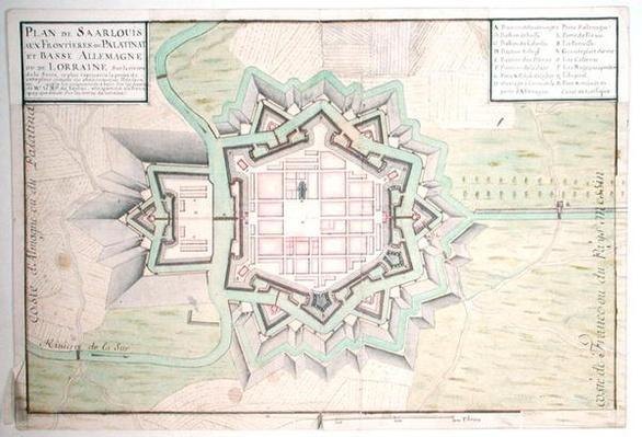 Atlas 131 E Plan of Saarlouis, from 'Traite de Fortifications'