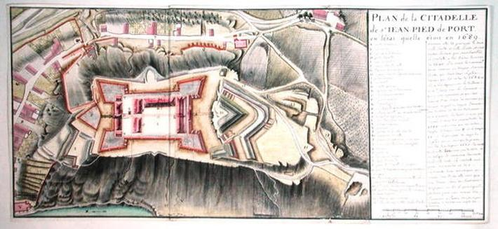 Citadel of Saint-Jean de Port in 1689, from 'Traite de Fortifications'
