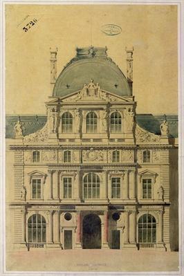 Elevation of the Pavillon de l'Horloge, Palais du Louvre