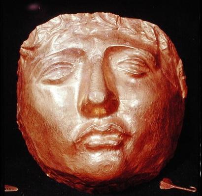 Funerary mask, from Ras-Shamra, Syria