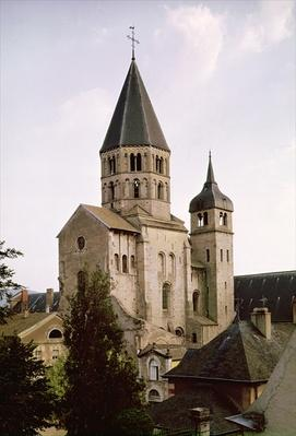 View of the Clocher de l'Eau Benite of the Abbey Church, 1088-1130