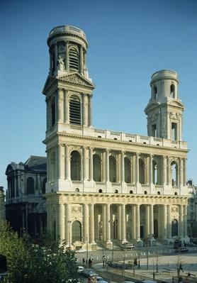 View of the facade of the Church of Saint-Sulpice, built between 1646-1780