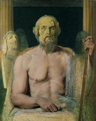 Homer, study for The Apotheosis of Homer, 1826-27
