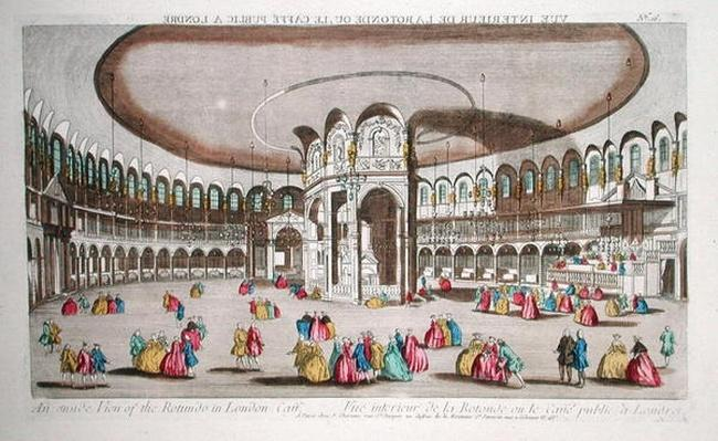 Interior of the Rotunda, Ranelagh House, London
