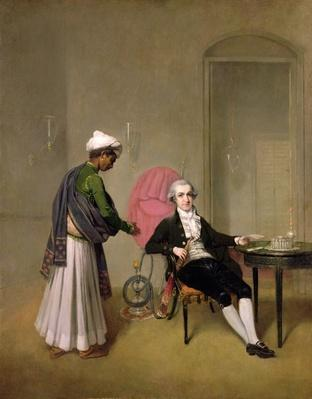 Portrait of a Gentleman, possibly William Hickey, and an Indian Servant, c.1785